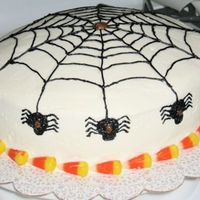 Another View Of Spiderweb Cake