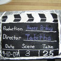 Movie Clapboard   Cake for my cousin's birthday