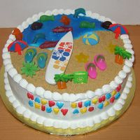 Beach Cake  This cake was for the UPS man. He delivered a package one day while I was baking a cake and asked if I could make him one for his kids. It...