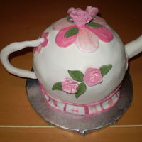 Teapot Used ball pan and covered in fondant.