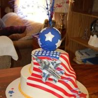 Airforce Farewell Here's a cake I did for my nephew who's going into the air force. I can't find the original cake that I copied here on CC (...