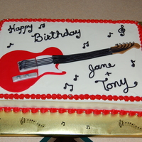 Guitar Cake guitar cake made for friends - buttercream icing - fondant guitar