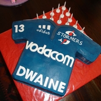 Stormers Rugby Jersey Cake