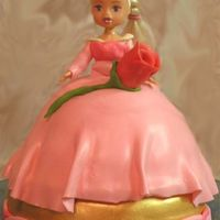 Fairy Tale Princess Chocolate princess, white base. White chocolate mmf. Rose is Starbursts with mmf stem made on a sucker.