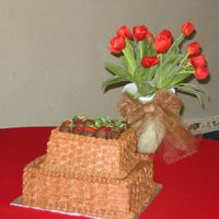 Chocolate Basketweave Groom's Cake