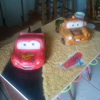 Movie Cars Cake I made this cake for my nephew, yello cake with butter cream and fondant. It was so much fun I expecially LOVE mater