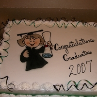 Graduation Cakes.. I got the images free online and airbrushed the cute pics. on the cakes..