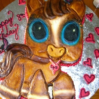 Littlest Pet Shop Cake.. I made this for my daughter and it was a hit with all the girls at the party.. It's covered in buttercream and airbrushed..