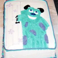 Sully I used buttercream frosting. A grass/hair tip for his fur.