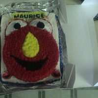 Elmo This was one of my first cakes. I made it for my son's second birthday. I wanted to buy the Elmo pan but decided to give it a try...