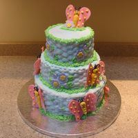 Butterfly_Cake_-_1St_Birthday_.jpg This was a first birthday cake for a friend's daughter. I got the idea from a Wilton book and modified a little with the basketweave...