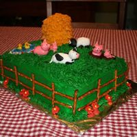 On The Farm I made this last summer for my daughter's 3rd birthday. I got so much inspiration from CC! I used a stack of white cake covered in...