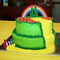 Wizard Of Oz Birthday Cake This is a Wizard of Oz cake I made for my daughter's 5th birthday. The top tier is yellow cake with strawberry mousse filling and the...