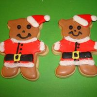 Santa Bears sugar cookie decorated with royal icing