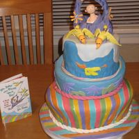Oh Baby The Places You Will Go  I made this rolled fondant topsy-turvy cake for a friend's baby shower. The decorations are made from rolled fondant and gumpaste. I...