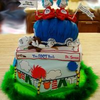 Dr. Seuss Baby Shower I made this cake for a friend who decorated her nursery with Dr. Seuss and wanted her shower the same. The picture is a bit difficult to...