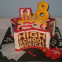 High School Musical Cake Made this for a little girl I know that is in LOVE with Zac Efron. the cake is frosted in buttercreme with edible images of the main...