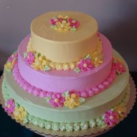 Birthday Cake This cake was made for an 18th birthday party - the birthday girl gave me very specific colors she wanted, and since they were so bright I...