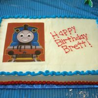 Brett's 3Rd Birthday I made this Thomas cake for my son's 3rd birthday. Buttercream with edible image.
