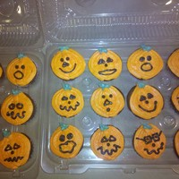 Jack-O-Lantern Cupcakes For My Son's Preschool Party