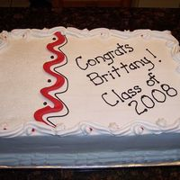 Graduation 2008 This is a half sheet graduation cake I made this past weekend. I tried an all shortening BC recipe for the first time and it was actually...