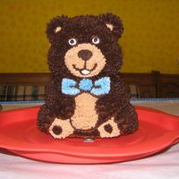 First Cake Ever I made this 3D teddy bear for my son's first birthday almost a year ago (my baby's growing up so fast!!!). It was my first time...