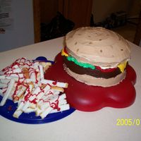 Cheeseburger This is my first upload, and my first 3D cake that's not a bear (I've done several bear cakes before finding this WONDERFUL...
