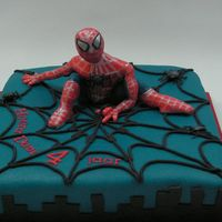 Spiderman From Holland spiderman made from marzipan. hand moddelled. by myselfThe cake: sponge cake filled with vanilla egwhite creme and strawberrys
