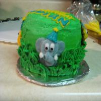 Jungle Mini Cake buttercream
