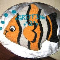 Nemo Poser Choc cake bc icing for birthday :)