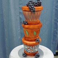Flower Pots - Grapes Took a course at Wilton - with Colette Peters, lots of fun, learned so much.