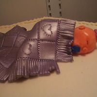 Baby Shower Cake Fondant Baby and Blanket