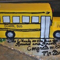School Bus Marble cake, buttercream frosting with fondant details. Fun cake to make!