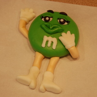 M&m Marshmallow fondant M&M figure I made for dd's candy barrel cake. She was perfectly smooth until one of my kids splashed a drop of...