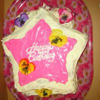 Mom's Birthday 2005 This cake was from my mother's birthday in 2005. The theme of her party was hawaiian so I put a few flowers. The writing is actually a...