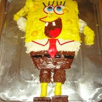 Spongebob I made this cake using a variety of items and modeled it after a photo I saw online. The cake wasn't made for a child, actually for a...