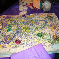 Mardi Gras 2005 This cake was actually made for a Mardi Gras celebration party to raise money for Hurricane Katrina victims in September 2005.