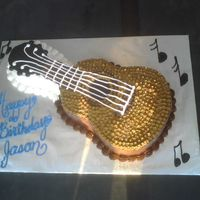 Guitar Cake Used the Wilton Guitar Shaped pan