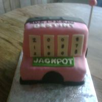 Slot Machine Carved out of multiple layers and decorated in fondant