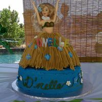 Hula Girl Cake With Ocean Cupcakes I used the Wilton Wonder Mold and made cupcakes with a matching beach scene