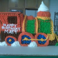 Train Cake I used the wilton choo-choo train mold for this and decorated in buttercream.