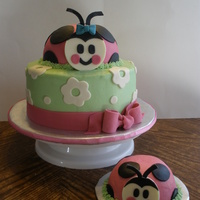 Ladybug 1st birthday ladybug cake inspired by several cakes on this site and the party supplies.