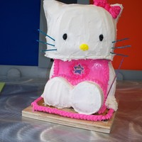 Hello Kitty 3D Cake 7 Year Old B-day CakeThe steps were photo recorded here: http://cherieosaurus.deviantart.com/art/The-making-of-Hello-Kitty-Cake-157930900...