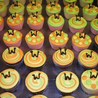 Funkycupcakes.jpg These where ordered by the grooms mother for the rehersal dinner. for some reason theykindof make me think of Scooby Doo.