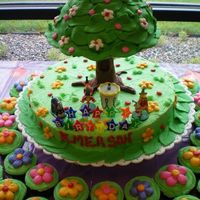 Emersonsbday.jpg Winnie the poo tree cake for my niece's first birthday