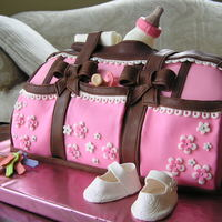 Diper Bag Baby Shower Cake.