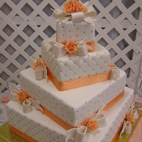Wedding Peach Color Cake.