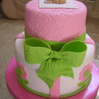 Baby Girl Shower Cake.