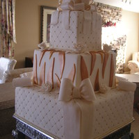 Wedding White And Gold Cake.