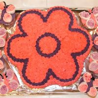 Flowers And Butterflies   The butterflies wings are 2 marshmallows cut in 1/2, the sticky side dipped in colored sugar.